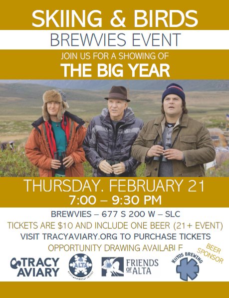 Skiing and Birds Brewvies Event: The Big Year