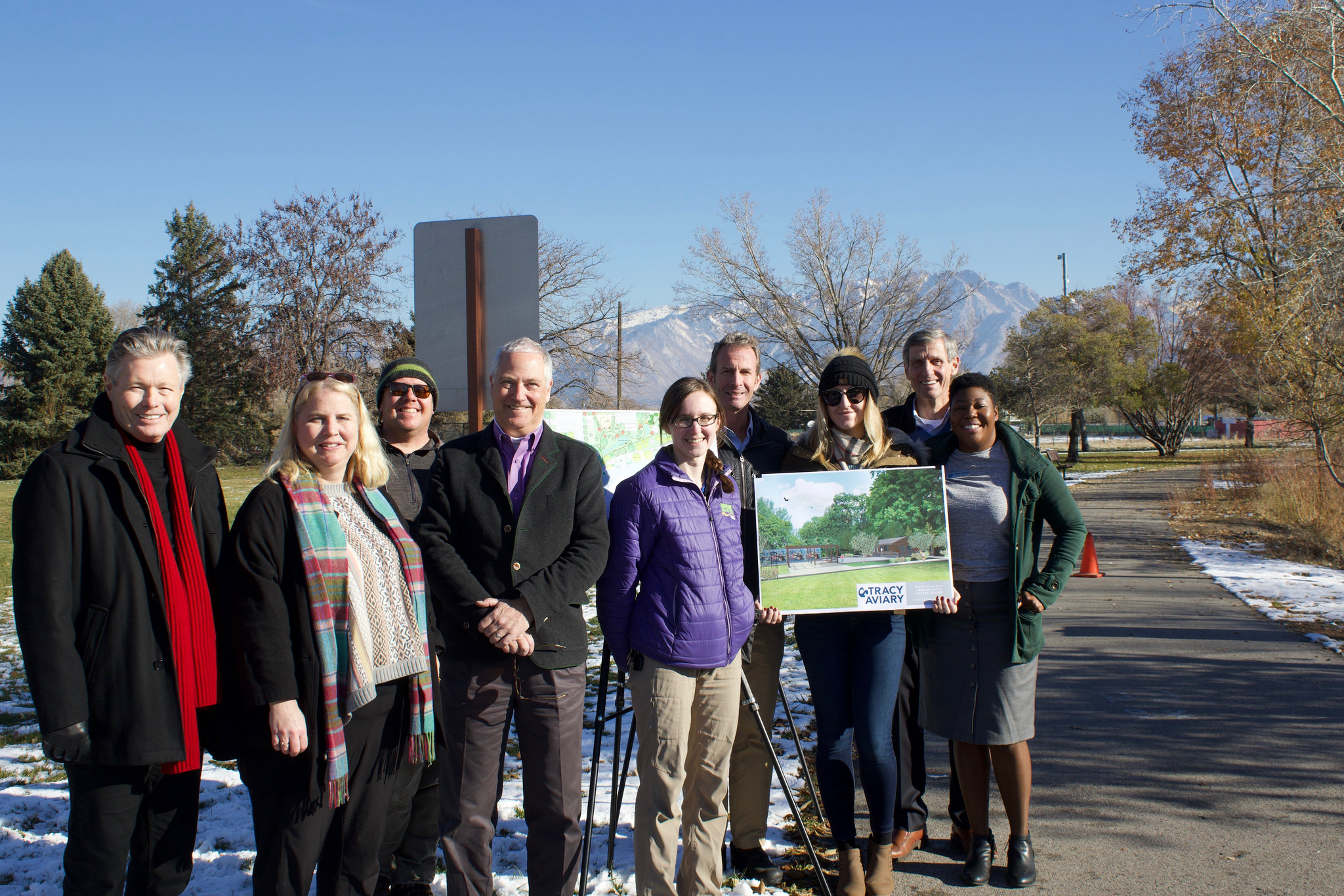 Tracy Aviary staff and board at Nature Center press event